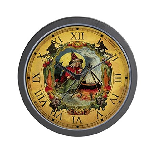 CafePress Vintage Witch Clock Unique Decorative 10