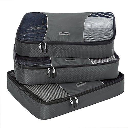 eBags Large Packing Cubes - 3pc Set (Titanium)