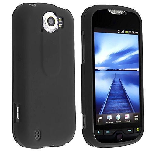 Black Rubberized Plastic Case (Black Rubberized Coating Hard Plastic Case Cover for HTC myTouch 4G Slide)
