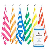 Dock & Bay Set of Beach Towels - Set of 6, Extra Large (200x90cm) - Sand-Free Towel, Compact Towel for Swim, Individually Packed