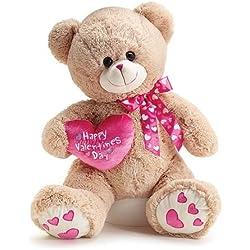"Large 25"" Valentine Plush Teddy Bear with Happy Valentine Heart"