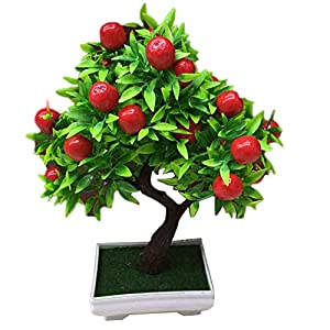 Minishop659 1Pc Potted Artificial Fruit Tree Bonsai Stage Garden Wedding Party Decor Props 56