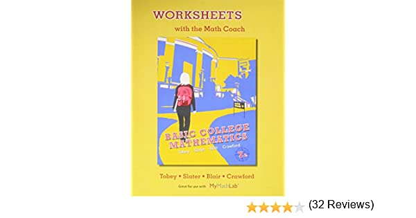 Worksheets with the Math Coach for Basic College Mathematics: John ...