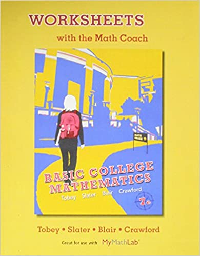 Printables Basic College Math Worksheets worksheets with the math coach for basic college mathematics john 7th edition