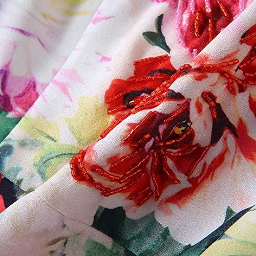 Spring Donne Hhff Fiori Manica Da Canapa Stampa Abito 2019 New Rilievo Vestito A Del Handmade Delle Con In Corta XZXwnvFHrq
