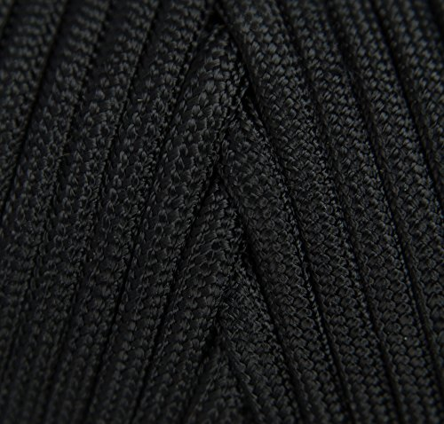 TOUGH-GRID 750lb Black Paracord/Parachute Cord - Genuine Mil Spec Type IV 750lb Paracord Used by The US Military (MIl-C-5040-H) - 100% Nylon - Made in The USA. 500Ft. - Black by TOUGH-GRID (Image #2)