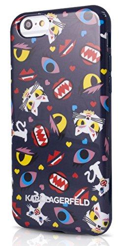 Karl Lagerfeld Monster Choupette TPU Hülle für Apple iPhone 5/5S blau