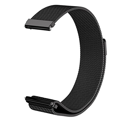 V-MORO Milanese Strap Compatible with Gear S3 Frontier Bands/Galaxy Watch 46mm Band 22mm Black Loop Mesh Stainless Steel Metal Bracelet for Samsung Galaxy Watch 46mm/Gear S3 Smartwatch 6.3-9.8