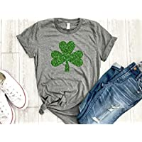 Irish girl Womens St patricks day tee Shamrock shirt st paddys day holiday womens gold love tee gift for her Irish af tee