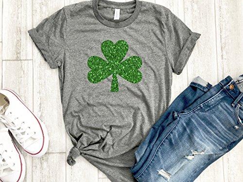 Irish girl Womens St patricks day tee Shamrock shirt st paddys day holiday womens gold love tee gift for her Irish af tee ()