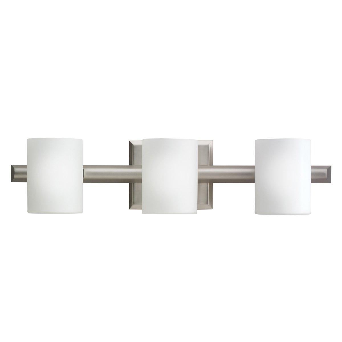 Kichler NI Tubes Bath Light Halogen Brushed Nickel Vanity - Halogen bathroom vanity lights