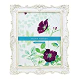 shabby chic picture frames  8x10 White & Gold Ornate Textured Hand-Crafted Resin Picture Frame w/Easel & Hook for Tabletop & Wall Display, Decorative Floral Design Home Décor, Photo Gallery, Art (8x10, White/Gold)