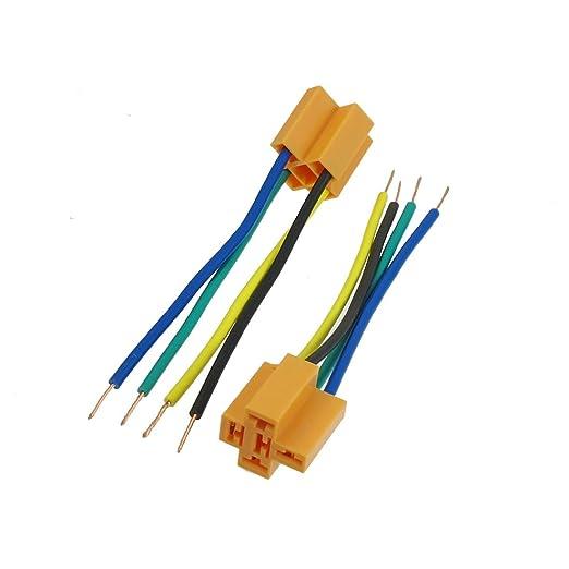 Aexit Cable de arnés de relé de alarma para automóvil de 2 piezas ...