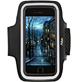 AILUN Phone Armband Compatible iPhone 8 7 X Xs Galaxy s8 s9 S7 S6 Sport Anti Slip,Slim Lightweight,Dual Arm-Size Slots,Sweat&Scratch Resistant Key Pocket,with Touch ID Headphone Port[Black]