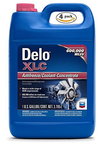 Delo XLC Nitrate Free Antifreeze/Coolant Concentrate 1 Gal. (4 Pack)