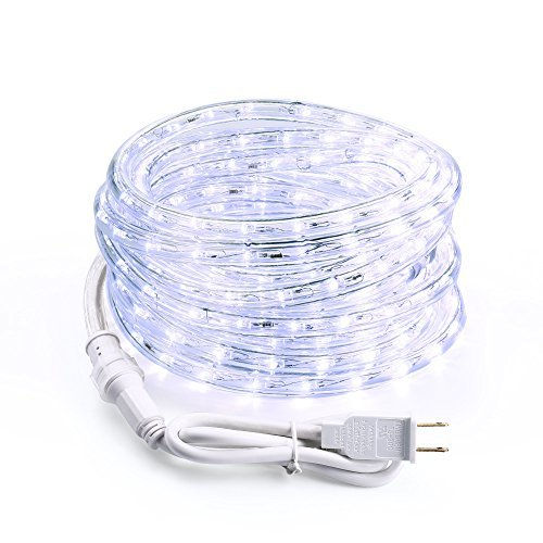 18 Cool White Led Indoor/Outdoor Christmas Rope Lights