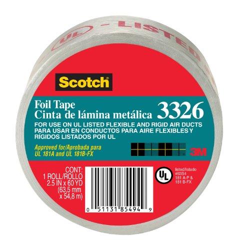 3メートル2.5インチX 60ヤードスコッチアルミ箔テープ3326-A