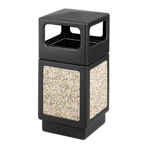 Safco(R Aggregate Panel Outdoor Receptacle, Side-Opening, 38 Gallons, 39 1/4in.H