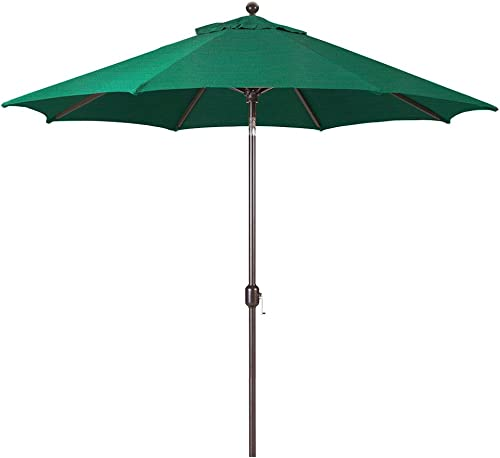 Galtech 9-Foot Model 737 Deluxe Auto-Tilt Umbrella with Antique Bronze Frame and Sunbrella Fabric Forest Green Includes Extended Frame Warrantee