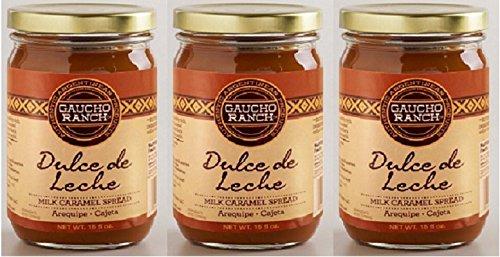 Dulce de leche Gaucho Ranch/Milk Caramel 15 oz. Bottle 3 PACK