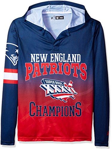 NFL New England Patriots Super Bowl XXXVI Champions Hoody Tee, Medium