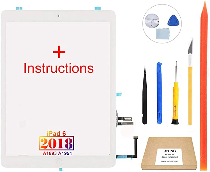 JPUNG Touch Screen Replacement for iPad 6 6th Gen Digitizer 2018 9.7