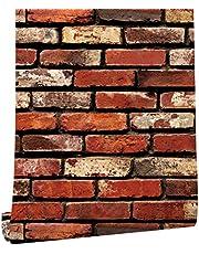 HAOKHOME Brick Wallpaper Roll Grey Self Adhesive Kitchen Living Room Decor 62033