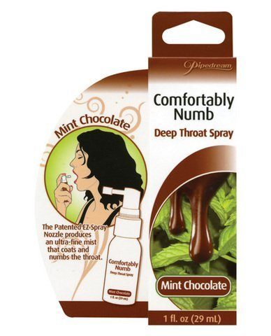 Comfortably numb deep throat spray - mint chocolate (package of 4) by superkrit
