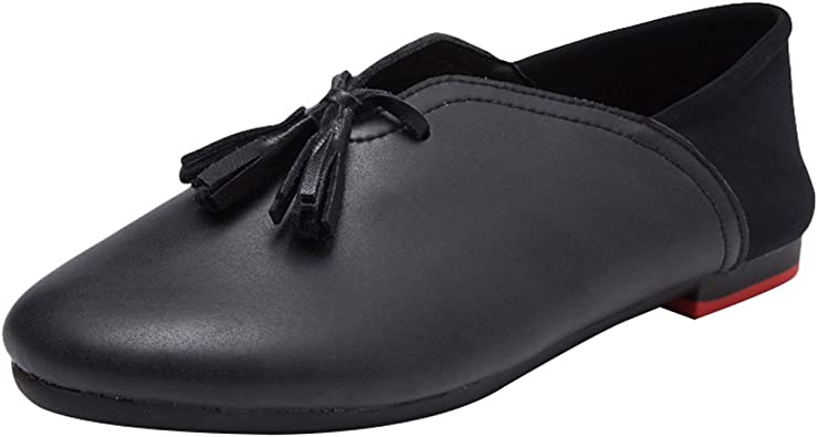 Minibee Womens Casual Tassel Loafers Slip On Nurse Shoes Driving Flat