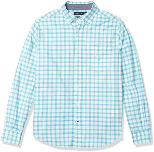 Chemise boutonnée à manches longues à carreaux Oxford Nautica pour homme