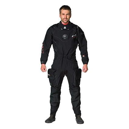 Waterproof Impermeable D1 Hombre híbrida Traje seco, Negro ...