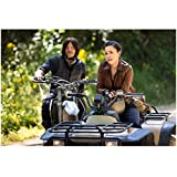 Norman Reedus 8 Inch x 10 Inch PHOTOGRAPH The Walking Dead (TV Series 2010 -) Riding ATVs w/Young Woman kn