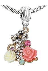 """""""Cat """" Charm Bead for European Snake Chain Charm Bracelet"""