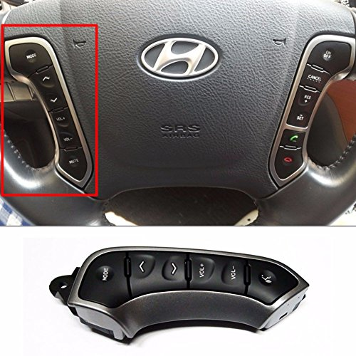 Lh Remote Switch - Steering Wheel Remote Control Switch LH for 2010-2012 Hyundai Santa Fe OEM Parts