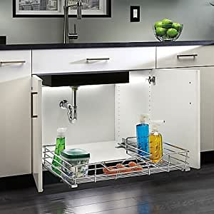 kitchen sink cabinet organizer rev a shelf 30 inch sink organizer 5666