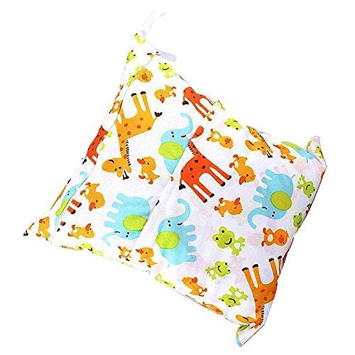 Bolsa de Panales - SODIAL(R)Bolsa de Panales de Mojado y Seco Impermeable para Carro de Bebe (Jirafa)