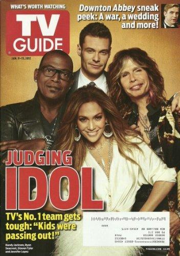 TV Guide Magazine January 9-15, 2012 Judging Idol, Downton Abbey Sneak Peek, Grey's Anatomy ebook