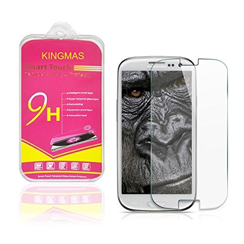 KingMas Premium Explosion-proof Tempered Glass Screen Protector For Samsung Galaxy S3 SIII i9300