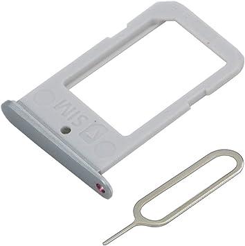 MMOBIEL Bandeja de Tarjeta SIM Ranura Compatible con Samsung Galaxy S6 Edge G925 5.1 Pulg (Plateado) Incl. Sim Pin: Amazon.es: Electrónica