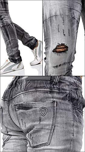 Uomo Grigio Regular Classici Fit Vari Jeans Modelli t562 Instinct Slim Ripped 5xwPTqxI