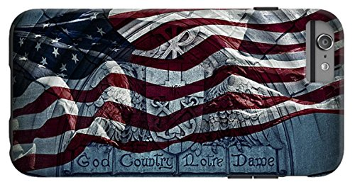 """iPhone 6s Plus Case """"God Country Notre Dame American Flag..."""