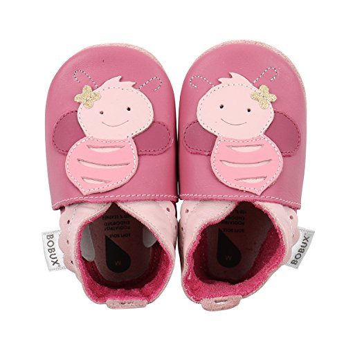 Bobux Baby Girls Shoes Premium Leather Soft Sole Shoes for Infants and Toddlers 4XL (4-5 yr.) Pink