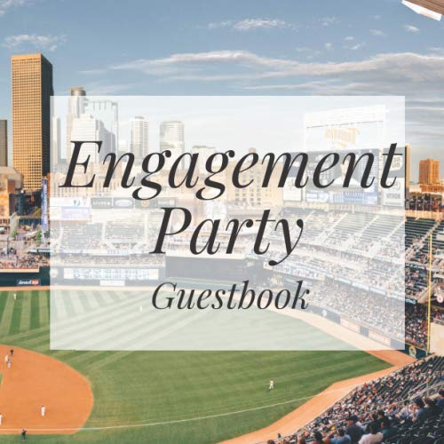 Engagement Party Guestbook: Baseball Event Signing Guest Book - Visitor Message w/ Photo Space Gift Log Tracker Recorder Organizer Address ... for Special Memories/Party Reception Table (Best Pen For Baseball Autographs)