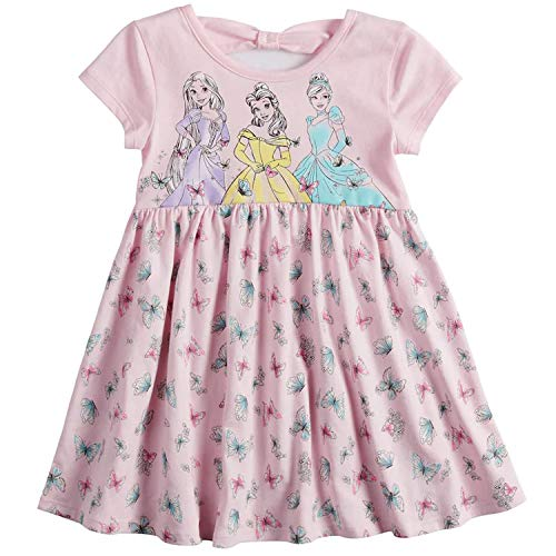Princess Beauty and The Beast Belle Baby Doll, Little Mermaid, Cinderella, Minnie Mouse Unicorn Toddler Girl Dress (3 Princess, 5T)