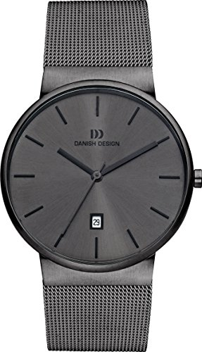 Danish Design IQ64Q971 Dark Gray Stainless Steel and Dial Men's Watch ()