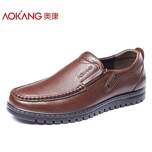 Aemember scarpe da uomo scarpe da uomo business casual e comodo set di script, leggero, calzatura Low-Cut ,40, marrone