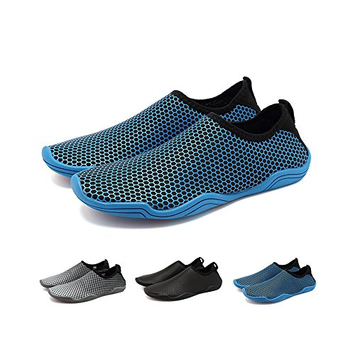 Blankey Water Sportschoenen Sneldrogend Barefoot Flexibele Flats Strand Zwemschoenen Voor Mannen Vrouwen Kinderen Blauwe Honingraat