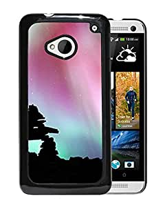 Unique DIY Designed Cover Case For HTC ONE M7 With Rock Formation Silhouette Nature Mobile Wallpaper Phone Case