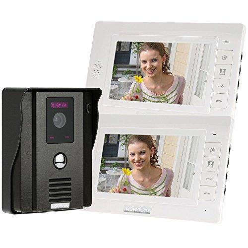KKmoon 7' Video Door Phone Intercome Doorbell Remote Unlock Night Vision Rainproof Security CCTV...