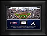 """Atlanta Braves Framed 5"""" x 7"""" Stadium Collage with a Piece of Game-Used Baseball - MLB Team Plaques and Collages"""